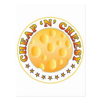 Cheap n Cheesy R Postcard