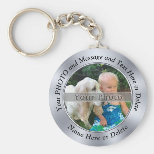 Cheap Personalised Keyrings Your PHOTO and TEXT Keychain
