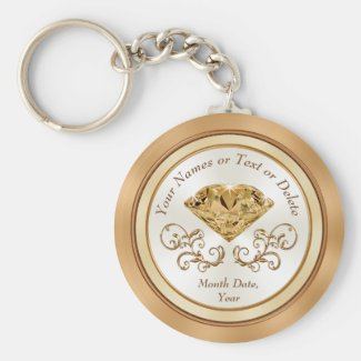 Cheap Personalized 50th Wedding Anniversary Favors Keychain