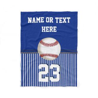 Cheap Personalized Baseball Fleece Throw Blanket