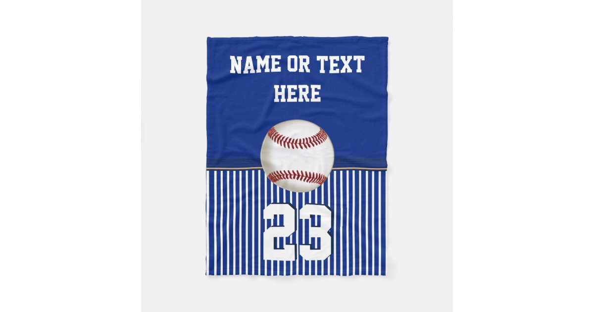 Cheap Personalized Baseball Fleece Throw Blanket Zazzle Com