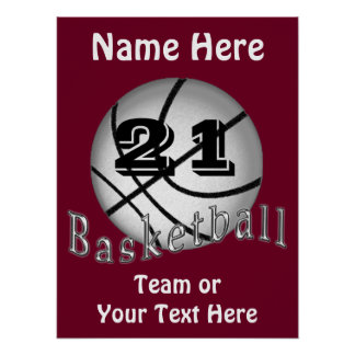 Cheap Personalized Basketball Posters YOUR TEXT