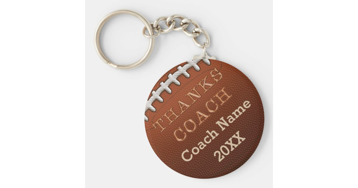 Personalized Street Signs >> Cheap Personalized Football Coach Gift Ideas Keychain | Zazzle.com