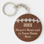 Cheap Personalized Football Gifts for Players Basic Round Button Keychain