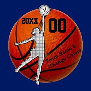 Basketball Team For Girls Keychains & Lanyards | Zazzle