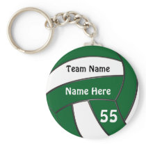 Cheap Personalized Green Volleyball Gifts Keychain