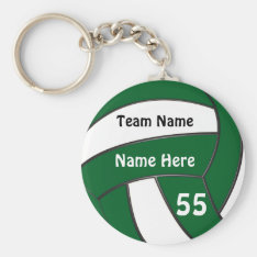 Cheap Personalized Green Volleyball Gifts Keychain at Zazzle