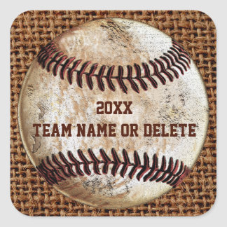 Cheap Personalized Rustic Team Baseball Stickers