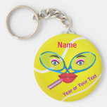 Cheap PERSONALIZED Tennis Keychains, Womens TEAM Keychain