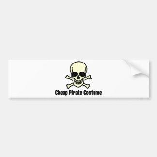 Cheap Pirate Costume Bumper Sticker
