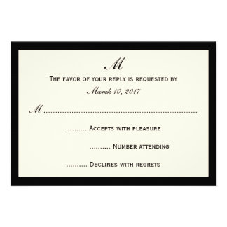 Cheap RSVP Invitation Cards Your Color Border