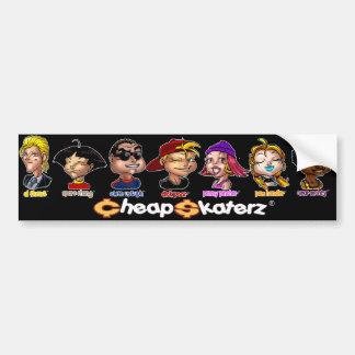 Cheap Skaterz® Crew Bumper Sticker - Blk
