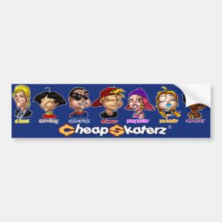 Cheap Skaterz® Crew Bumper Sticker - Blue