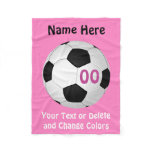 Cheap Soccer Blanket with YOUR COLORS and TEXT Fleece Blanket