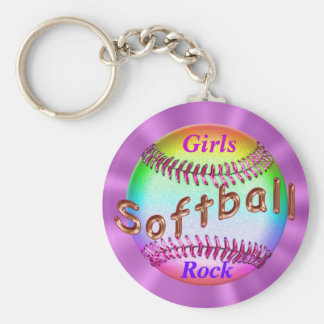 Cheap Softball Gifts for Girls, Softball Gift Bag Basic Round Button Keychain