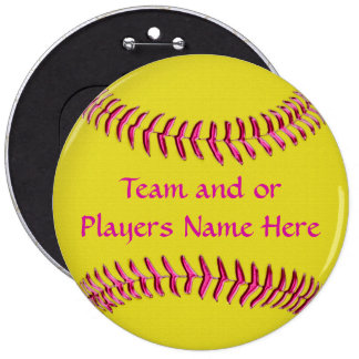 Cheap Softball Gifts for Girls TEAM and or NAME Pinback Button