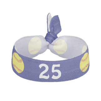 Cheap Softball Hair Ties JERSEY NUMBER in BULK