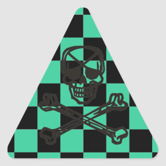 Cheap Sunglasses BoneHead Checkered Flag + Color Triangle Sticker