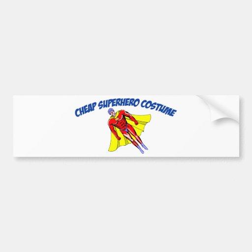 Cheap Superhero Costume Bumper Sticker