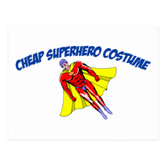 Cheap Superhero Costume Post Card