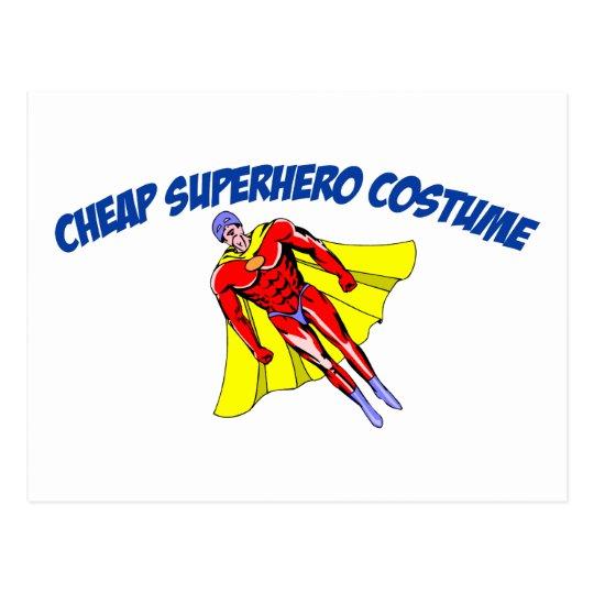 Cheap Superhero Costume Postcard