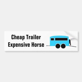 Cheap Trailer Expensive Horse Car Bumper Sticker