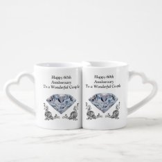 Cheap Unique Diamond Wedding Anniversary Gifts Coffee Mug Set at Zazzle