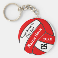 Cheap Volleyball Keychains In Your Colors And Text at Zazzle