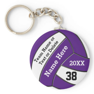 Cheap Volleyball Keychains Your Text and Colors