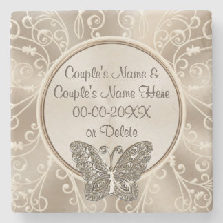 Cheap Wedding Gift Ideas PERSONALIZED, YOUR TEXT Stone Coaster