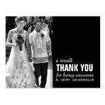 Cheap Wedding Thank You Card - Photo Funny!