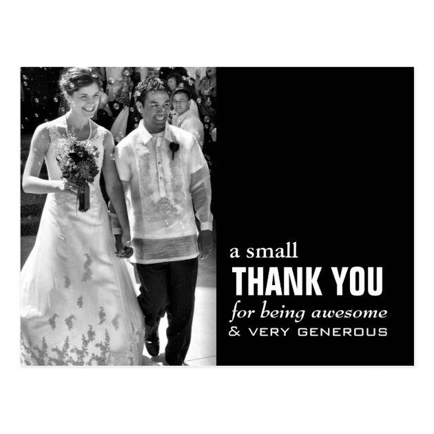 Cheap Wedding Thank You Card - Photo Funny! | Zazzle.com