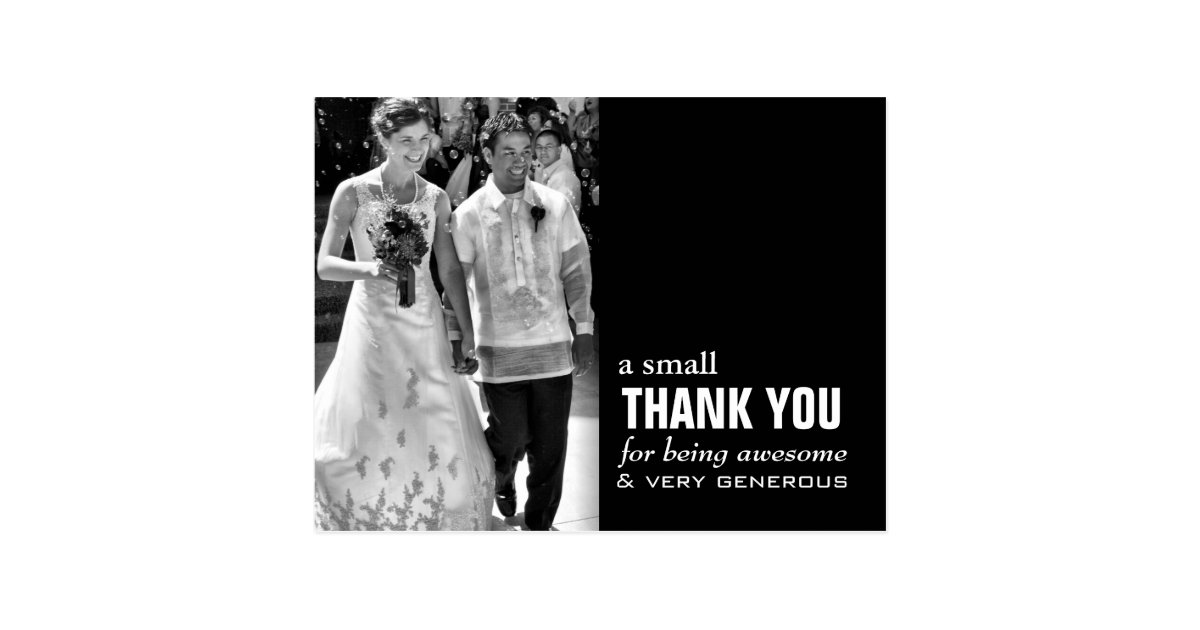 Cheap Wedding Thank You Card - Photo Funny! | Zazzle