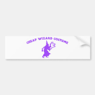Cheap Wizard Costume Version B Bumper Sticker