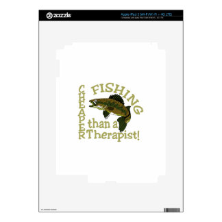 Cheaper Than A Therapist Decal For iPad 3