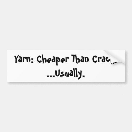 Cheaper than crack bumper sticker car bumper sticker