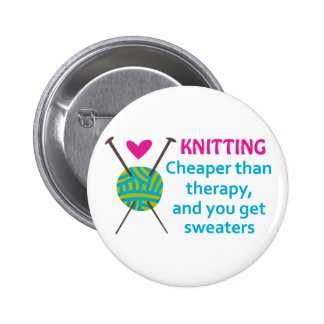 CHEAPER THAN THERAPY 2 INCH ROUND BUTTON