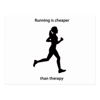 Cheaper than therapy postcard