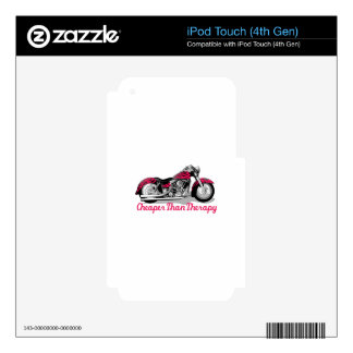 Cheaper than Therapy Skins For iPod Touch 4G