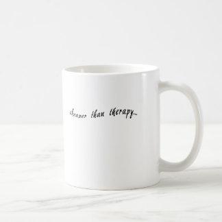 Cheaper Than Therapy Tshirts, Mugs, Buttons Coffee Mug