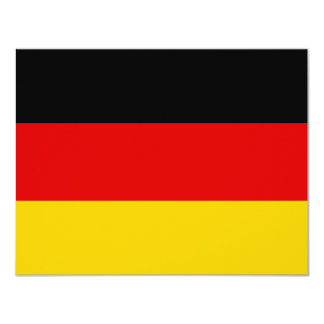 Cheapest German flag 4.25x5.5 Paper Invitation Card