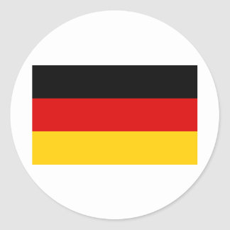Cheapest German flag Round Stickers