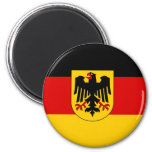 Cheapest German state flag 2 Inch Round Magnet