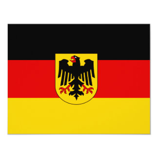 Cheapest German state flag 4.25x5.5 Paper Invitation Card