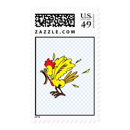 Cheapo Chicken Postage Stamp