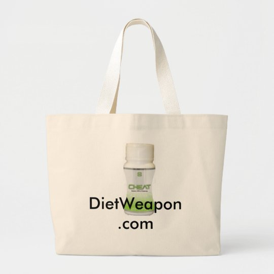 Cheat and Eat Large Tote Bag