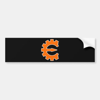 Cheat Engine Logo 2 - Orange Bumper Sticker