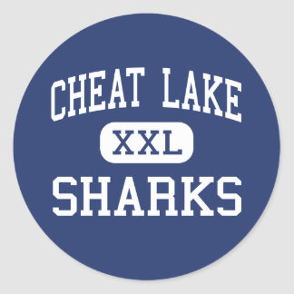 Cheat Lake Sharks Middle Morgantown Classic Round Sticker