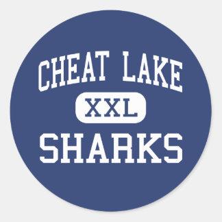 Cheat Lake Sharks Middle Morgantown Round Sticker