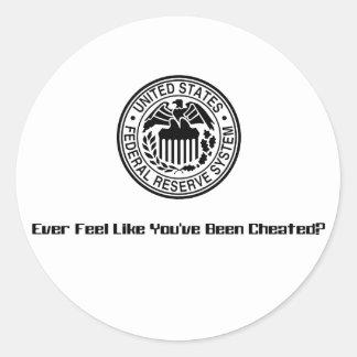 Cheated1 Round Stickers